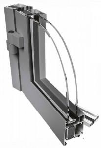 Drzwi aluminiowe ciepłe PE 68